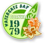 Cornwall Watergate Bay 1979 Surfer Surfing Design Vinyl Car sticker decal 97x95mm